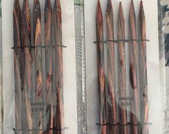 Knitting Needles 2 sets Double Pointed Deborah Norville Set Size 10.5 and Size 10  Wood Needles Free US Shipping!