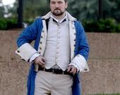 Colonial Captain America Hamilton Coat, General George Washington, Revolutionary War, Military, Lafayette, Alexander, Broadway, Reenactment