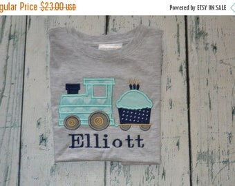 ON SALE PERSONALIZED Cupcake Train Birthday Shirt  Monogrammed 1, 2, 3, 4, 5, birthday