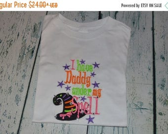 ON SALE BLING Halloween Shirt Have Daddy Under My Spell