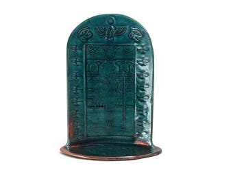 EGYPTIAN GODDESS HATHOR Shrine Handmade Raku Pottery