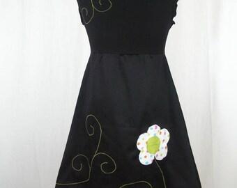 Kyriu flower multicolored polka-dot dress