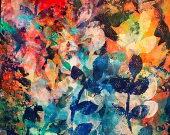 Colorful art print abstract 8x10