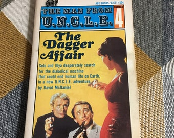 Vintage 1965 The Man from U.N.C.L.E. 4 The Dagger Affair David McDaniel