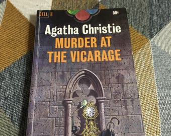 Vintage 1966 Agatha Christie Murder at the Vicarage Paperback Book