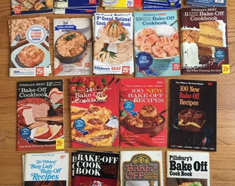 Vintage Cookbook CHOOSE Your Pillsbury Bake Off Recipe Booklet 1952 to 1970 VGC / Prize Winning Recipes Desserts to Main Dishes Collectible