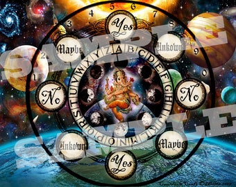 Cosmic Ganesha Pendulum Board -  Digital Download emailed to you