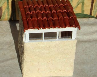 Artist Made 1:48 Quarter Scale Adobe Roombox Room