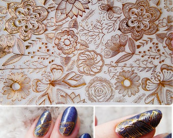 3d nail art etsy 1 sheet embossed 3d stickers rose flower pattern diy 3d nail art stickers decals prinsesfo Image collections