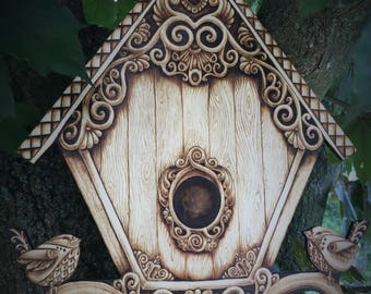 Charming Fantasy 'Birdhouse' - One of a Kind
