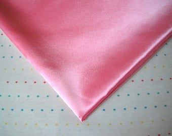 "Bubblegum Pink Satin Lining Fabric, 60"" Wide, BTY"