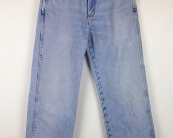 Vintage 90s Wrangler Distressed Faded Jeans Pants 29.5 Waist Denim Light Blue