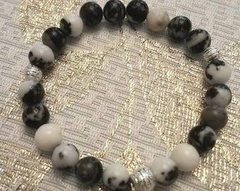 Black & White Jasper Bracelet