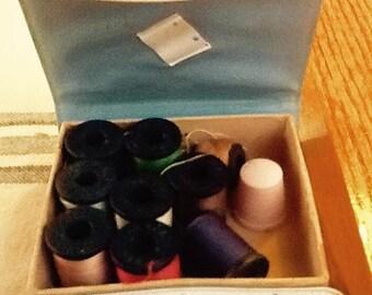 Sale Vintage Vinyl Travel Sewing Kit