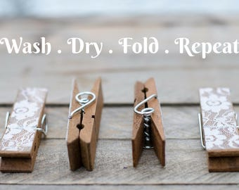laundry photo print Fine Art Photography clothespin wall home decor clothes pin, still life rustic laundromat inspirational saying text cute