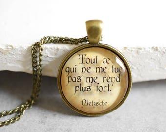 Tout ce qui ne me... by Nietzsche Necklace