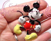 "2"" Mouse Inspired Charm, Rockabilly Polka Dot Chunky Pendant, Keychain, Bookmark, Zipper Pull, Chunky Jewelry, Purse Charm, Planner Charm"