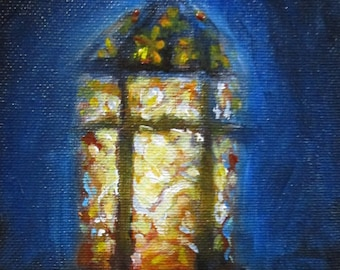 Lantern - original daily painting by Kellie Marian Hill