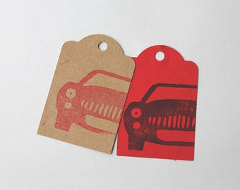 CARS party favour tags, CARS gift tags, car thank you tags, cars favour bag tags,  X 10