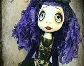 Hyacinth - Urchin art doll Goth Grotto