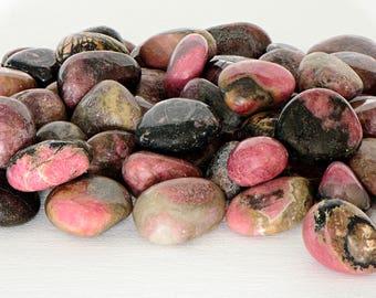 Rhodonite Tumbled Gemstone - Stone of Compassion, Love, & Emotion