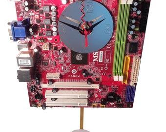 FREE SHIPPING USA! Motherboard Pendulum Wall Clock. Got Office Gift Clock, Company Gift Clock, Teacher Gift, Geek Clock, Lobby Clock?
