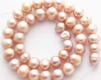 Freshwater Potato Pearls - Light Pink - 9-10mm