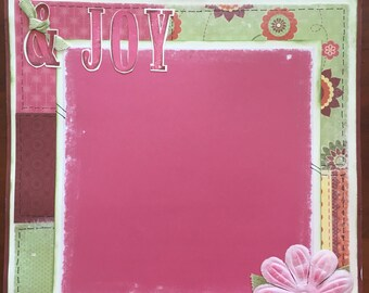 Joy and Happiness - 2 Pre-made Scrapbook Pages