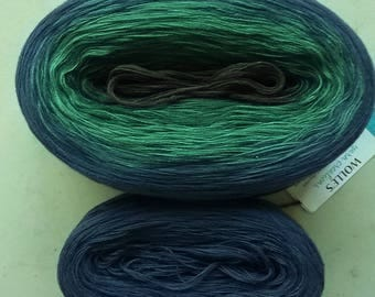 KAL Kit ~ FRANCISCAN -- Color Changing Cotton yarn --  Fingering Weight -- 960 yards