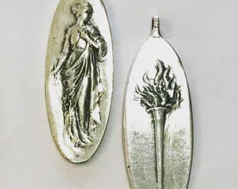Sterling Silver Goddess Pendant