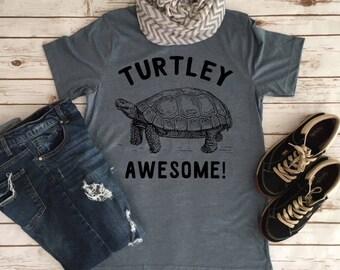 TURTLEy Awesome - Funny Animal Pun Tees