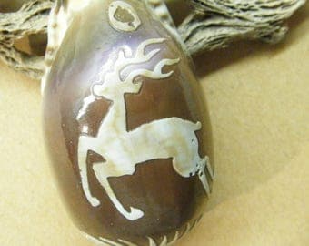 Carved Shell, Cameo Shell, Carved Deer, Cowrie Shell, Cameo Carving,  ANIMAL CHARITY DONATION