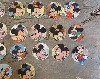 28 mickey mouse die cut circles; diy cupcake toppers