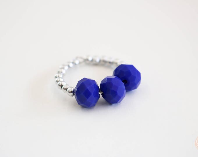 Wine Glass Marker/ Wine Glass Charm in Navy Blue.
