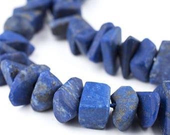 70 Chunk Afghani Lapis Lazuli Beads: Natural Lapis Beads Genuine Lapis Stone Real Stone Beads Blue Stone Beads (AFG-UNU-BLU-270)
