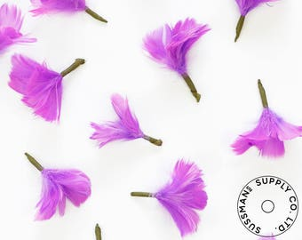 Feather Flower - Goose Feather Flower Bud - Lilac (1pcs)