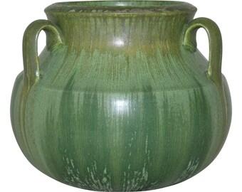 Ephraim Faience Pottery 2004 Forest Floor Vase 304