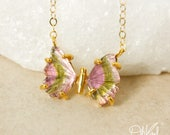 Watermelon Tourmaline Butterfly Necklace - Small – Choose Your Pendant