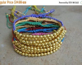 SALE 30% OFF WOW Sale / Bohemian Woven Beaded Brass Anklets Stackable 12 for 14.99