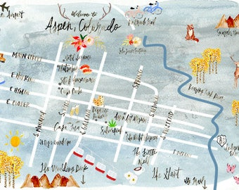 Custom Illustrated Map Design - Artwork Only - Watercolor Illustrations & Hand Lettering - Wedding Invitation Suite  - Customizable