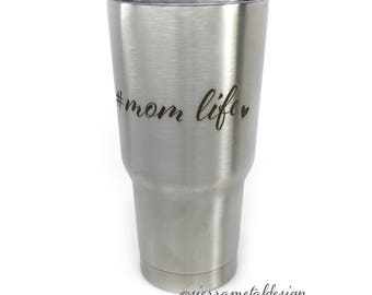 Mom Life Tumbler Mom Gift Mothers Day For Mom For Her Best Mom Ever Mama Blessed Mom Lucky Mom Mom Life 20 oz Tumbler Gift For Mom