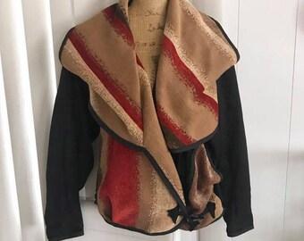 Artsy Southwest Vintage 1980's Miko Francisco Designer Jacket -- Size L