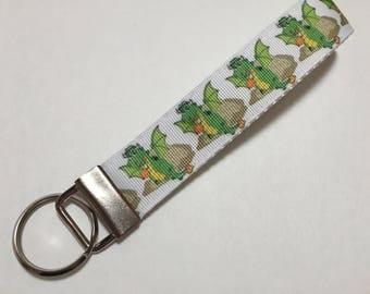 Cool Dragons Key Fob Keychain wristlet