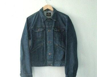 Spring SALE Vintage 60s Maverick jean jacket / Unisex denim Boho Hipster jacket
