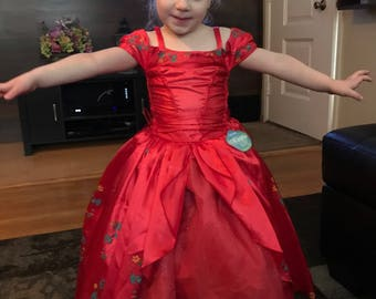 New Princess Elena Inspired Costume Birthday girl toddler princess dress size  2 4 6 8