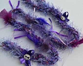 Dog Leash - Dog Wedding Leash - 4 foot - Fancy Dog Leash - Purple - Plum - Custom Dog Leash - Dog of Honor - Dog Birthday