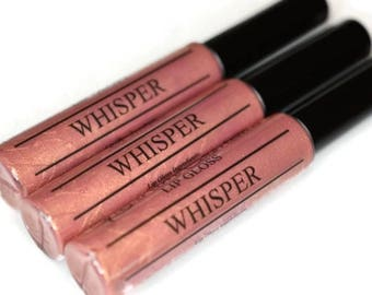 WHISPER Pink Coral Shimmer Lip Gloss