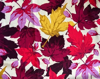 Martha Negley OOP, rare, Maples, Autumn Medley, plum, red leaf fabric, by the half yard