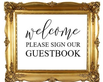 DIY Printable Guest Book Sign