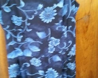 Ladies Blue Floral Jumper--nice --sz 14 --early 1990s style -- 20-50% off Clothing SALE